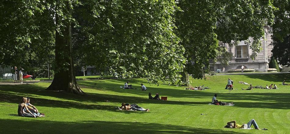 Le parc de La Boverie - un écrin de verdure