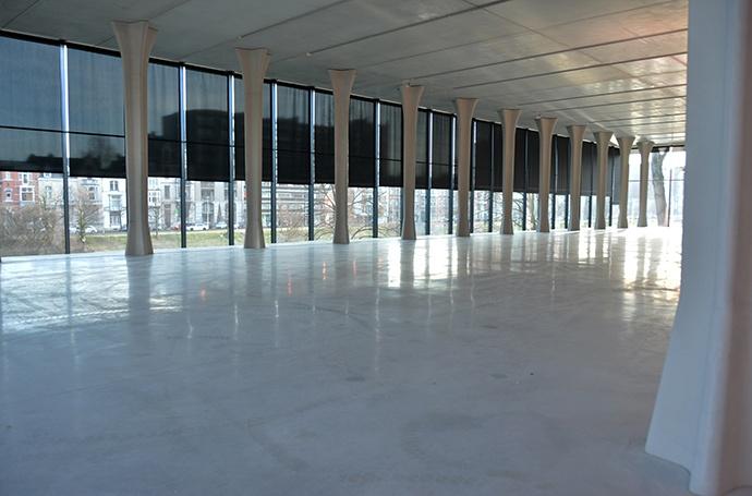 La Boverie - Vue intérieur de l'annexe vitrée